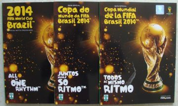 Complete set of WORLD CUP 2014 PROGRAMMES